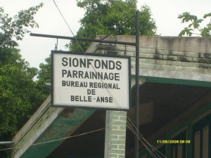 Sionfonds Sign in Belle Anse